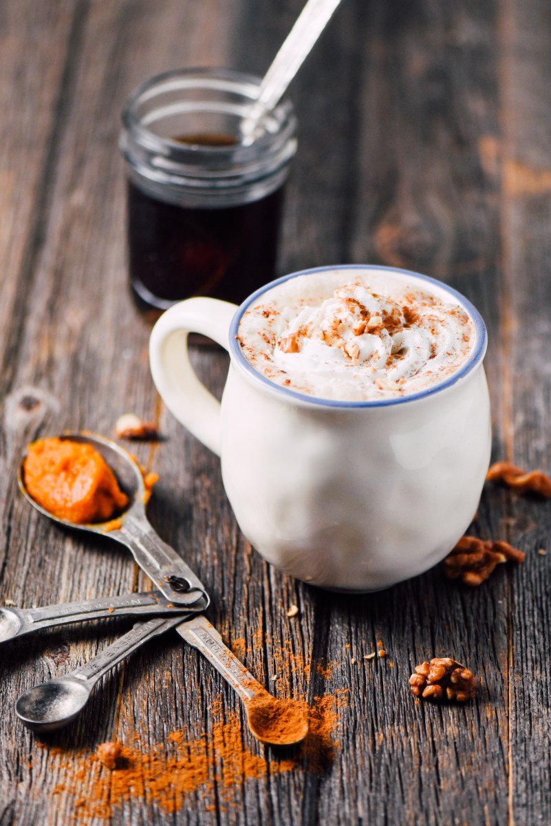 Vegan Pumpkin Spice Bedtime Drink- 100 calories and only 4 ingredients!