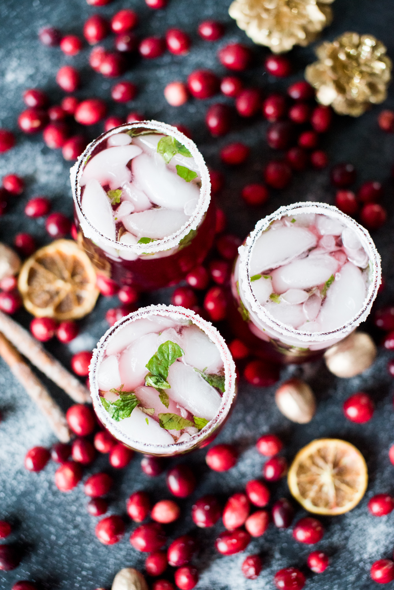 Sparkling Cranberry Mint Iced Tea