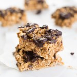 4-Ingredient Peanut Butter Oat Bars- easy, delicious, and healthier!