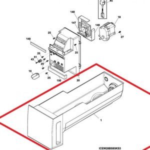 242093003 Electrolux Ice Container Assembly