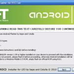 Remplacer Windows Mobile 6.5 par Android sur HTC HD2