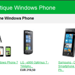 La Boutique Windows Phone en ligne!