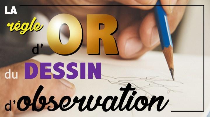 La règle d'OR du dessin d'Observation