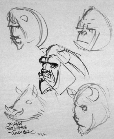 © Glen Keane - Beauty and the Beast
