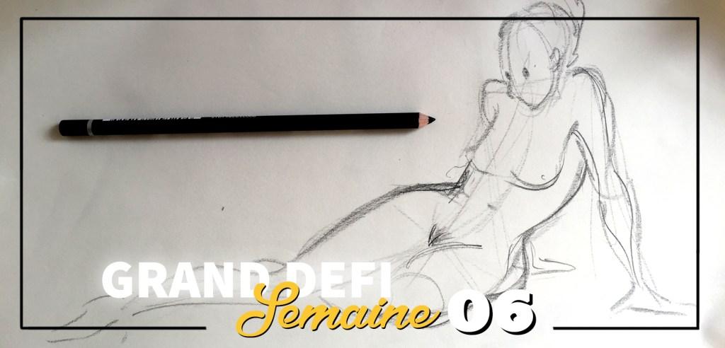 Defi apprendre a dessiner nue
