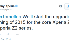 Sony Xperia Z2 and Z3 devices to get Lollipop update in Early 2015