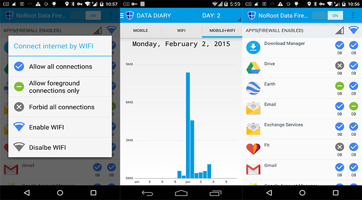 how to block data use andriod