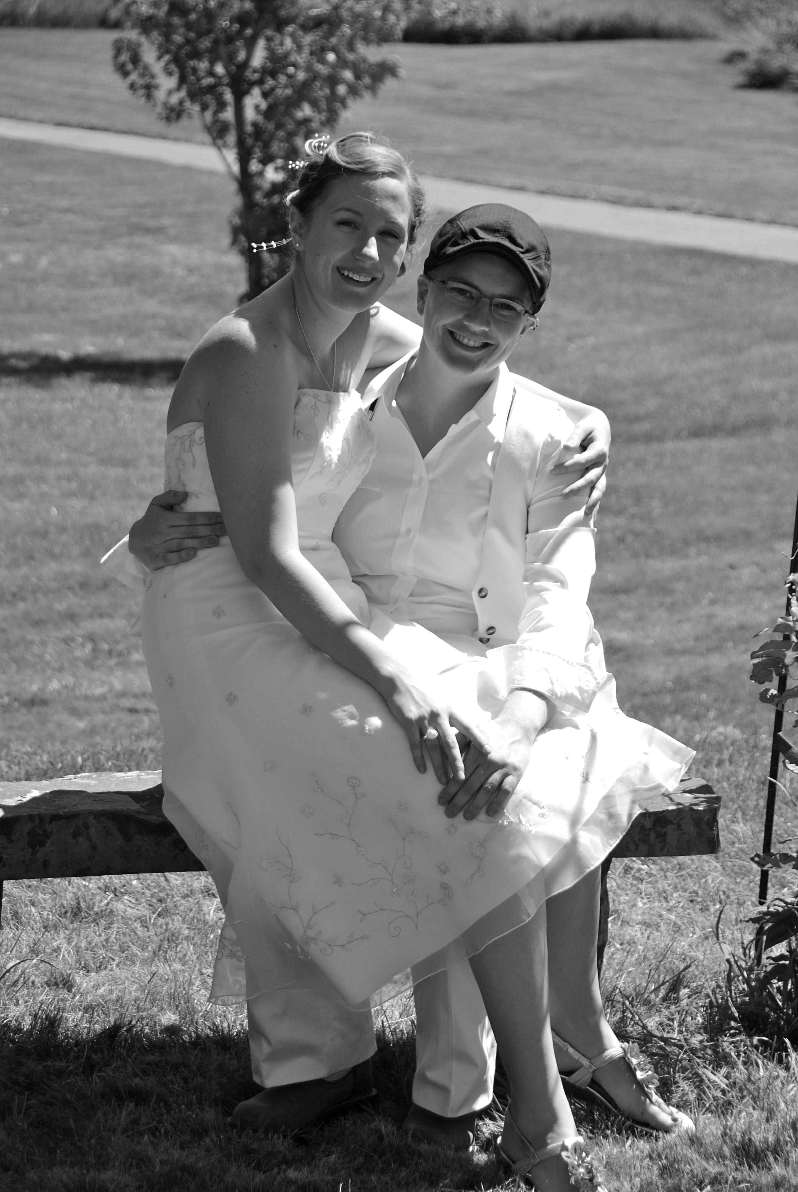 dsc lesbian wedding ideas Jewish Backyard Lesbian Wedding 11 A Practical Wedding We re Your Wedding Planner Wedding Ideas for Brides Bridesmaids Grooms and More A Practical