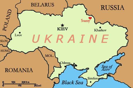 map sumy ukraine