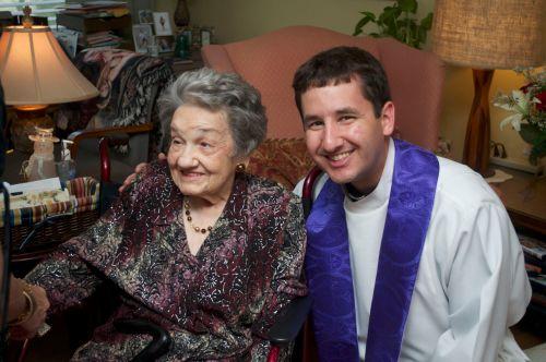Melia Starkovich and Fr. Jeff Starkovich