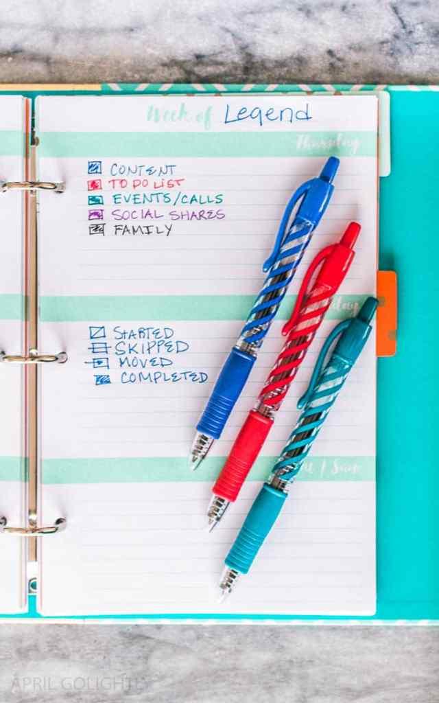 Organizing Tips for Calendar