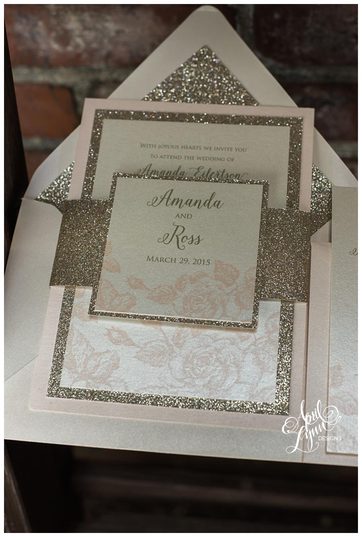 vintage blush wedding invitations PI