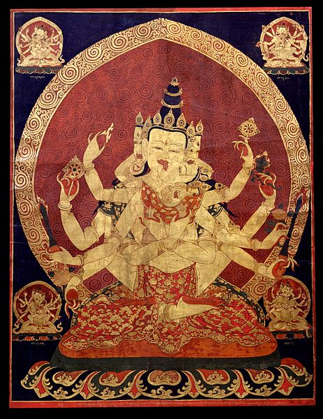 Aureola 17th_century_Central_Tibeten_thanka_of_Guhyasamaja_Akshobhyavajra,_Rubin_Museum_of_Art