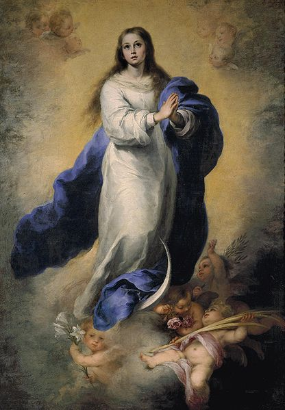 Aureola Bartolomé_Esteban_Perez_Murillo Inmaculada Concepcion El Escorial