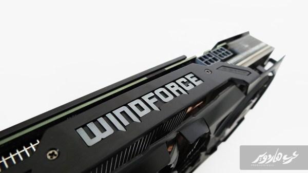 شعار Windforce أعلى البطاقة
