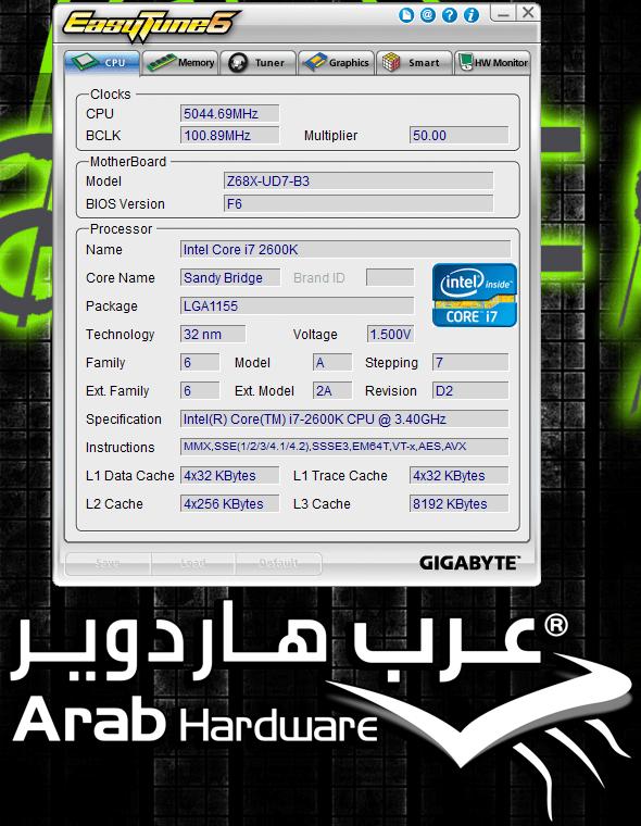 Gigabyte GA-Z68A-UD7-B3 Review - Arabhardware