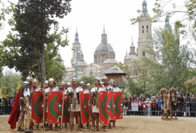 Recreación histórica en la Arboleda de Macanaz, Zaragoza. (Foto: J. Belver, Ayto. de Zaragoza)