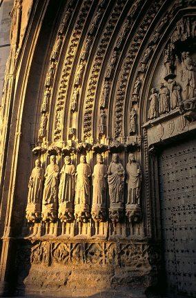 Portada de la catedral de Huesca.