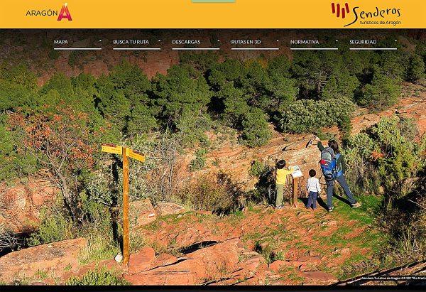 web de Senderos Turísticos de Aragón