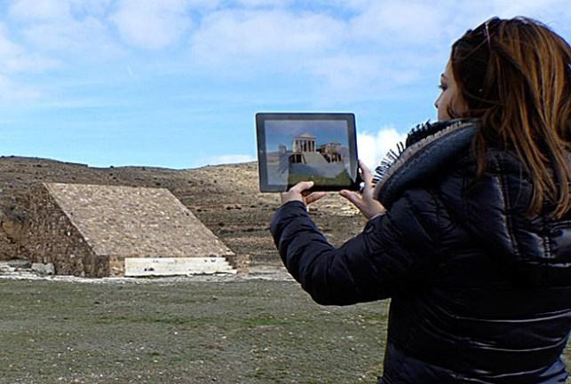 Una guía gratuita recrea la ciudad romana de Bilbilis con realidad aumentada