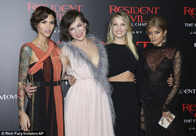 "Rola works the red carpet at L.A premiere of ""Resident Evil: The Final Chapter"""