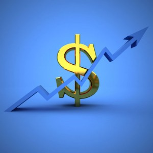 Image showing dollar sign with arrow pointing up