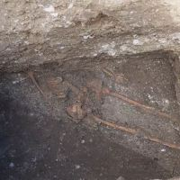 Archaeologists Dig Up Ancient Skeleton from under Odessos Fortress Wall in Bulgaria's Varna