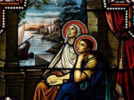 Saint Augustin et Monique