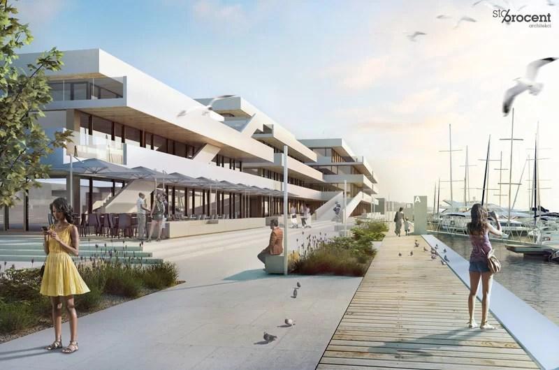 Studium zabudowy portu rybackiego w Helu. Projekt: STOPROCENT Architekci