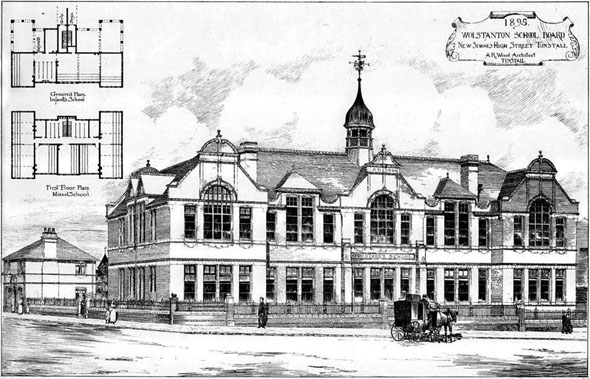 1895 new school tunstall staffordshire architecture