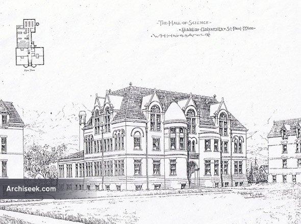 1897 - Hamline University Hall of Science, St. Paul, Minnesota