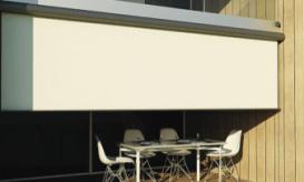 external roller blind over deck