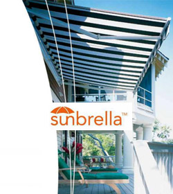 sunbrella logo and awning