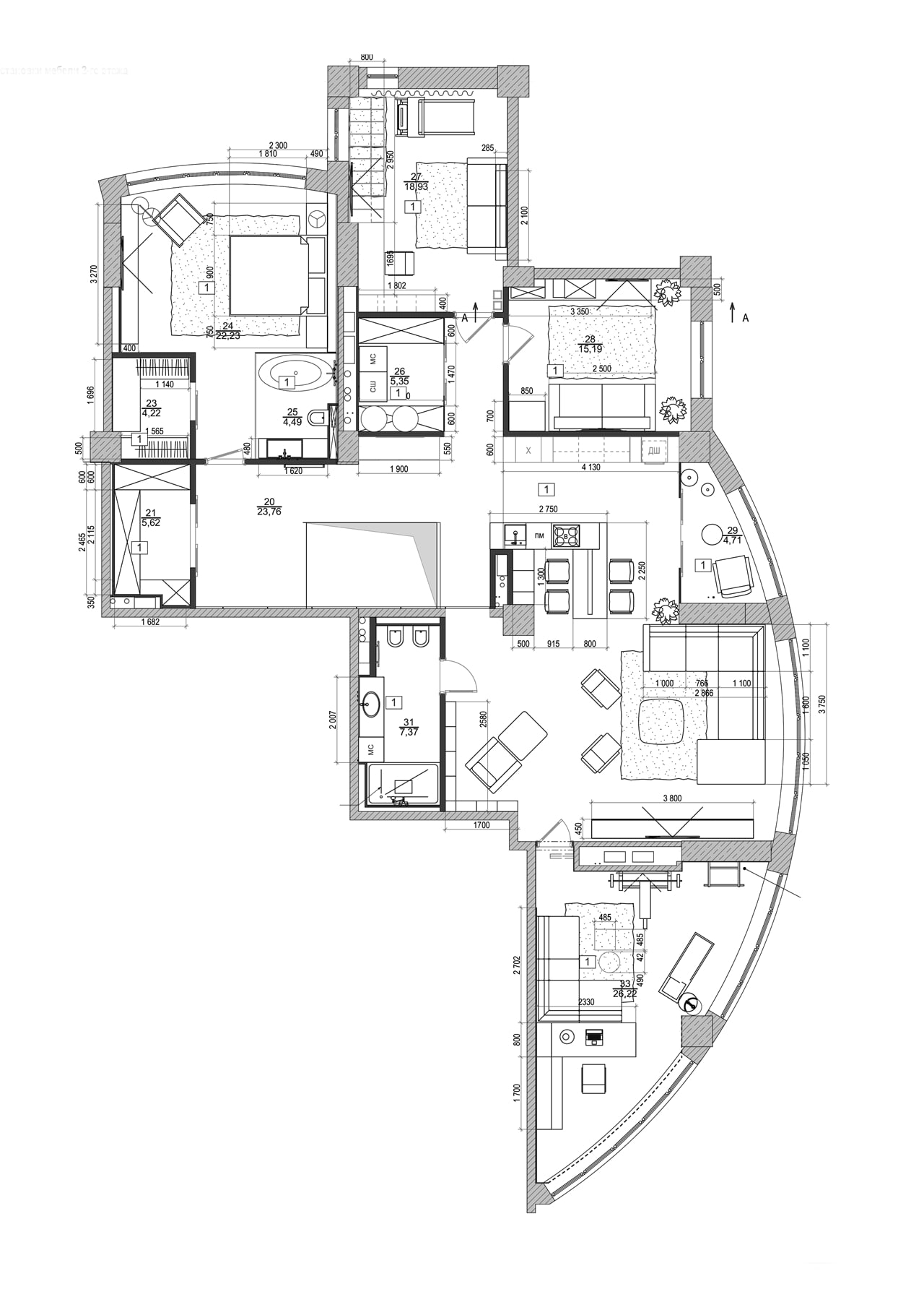 Fullsize Of Modern Apartment Floor Plan