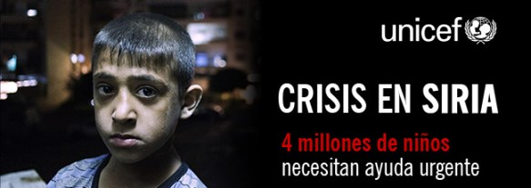 CRISIS EN SIRIA. 4 millones de niños necesitan ayuda urgente