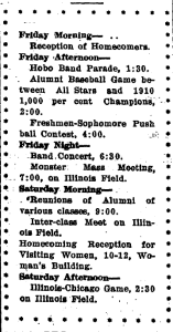 Homecoming Program, 1910