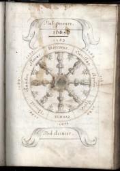 """arch_dep_lozere_1_j_65_1.jpg - <p class=""""description"""">La roue symbolise les 8 baronnies du Gévaudan, égales en droit.</p>"""