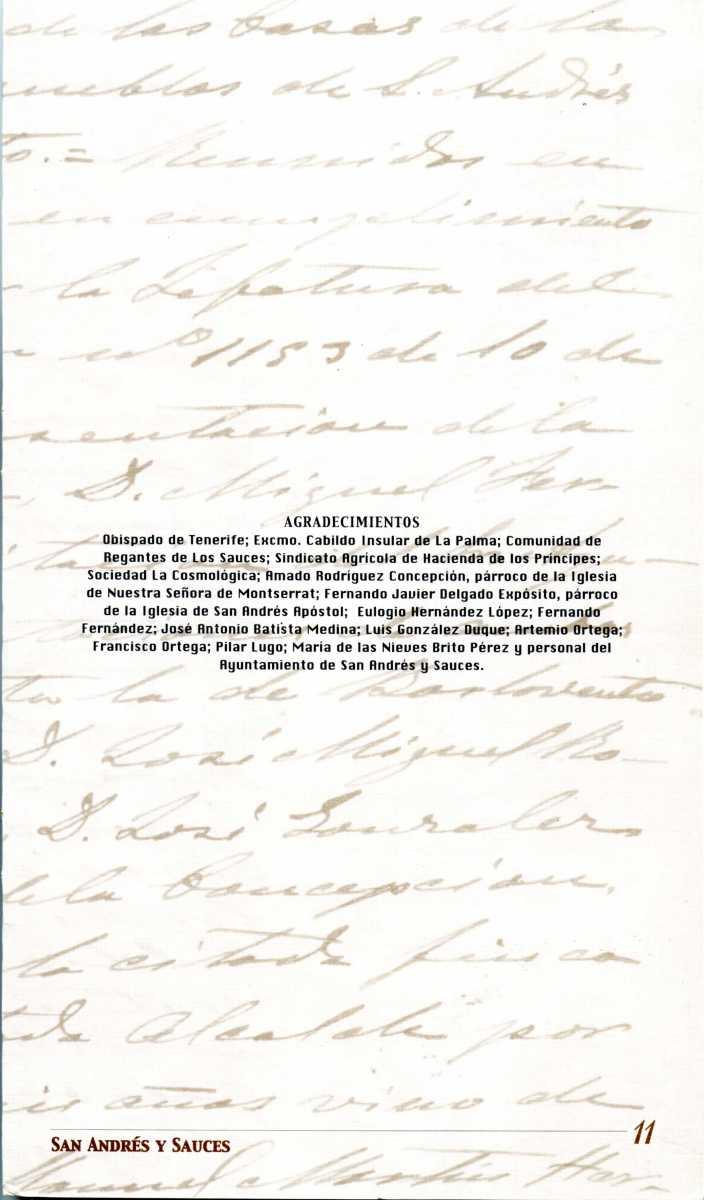 27. Programa de la Exposición Documental y Fotográfica de San Andrés y Sauces, organizada en 1999 (11)