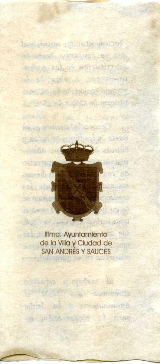 6. Programa de la inauguración del AMSAYS · San Andrés y Sauces