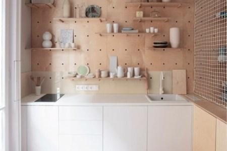 etagere cuisine ikea rangement mural cuisine mur en bois clair meubles de cuisine