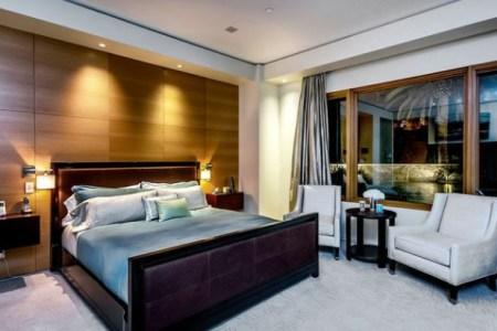 modernes wohnzimmer holzwand