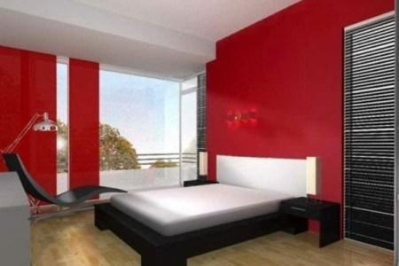 schlafzimmer mit warmen farbtnungen