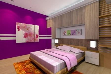 farbideen schlafzimmer zyklamenfarbe
