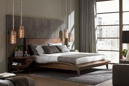 modernes schlafzimmer nach feng shui
