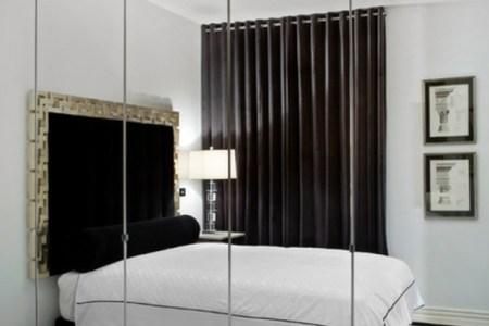 kleines schlafzimmer einrichten gro%c3%9fer spiegel