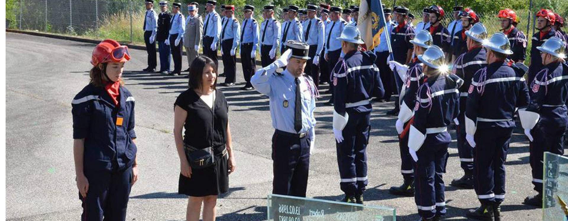 Sandrine Chareyre à la Journée nationale des sapeurs pompiers