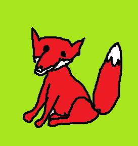A cartoon-ish, childish fox I drew on MS Paint, in order to demonstrate my point.