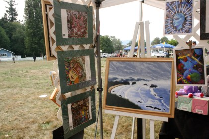 Another view of our booth at the art show.