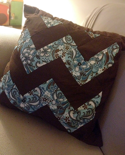 chevron print pillow