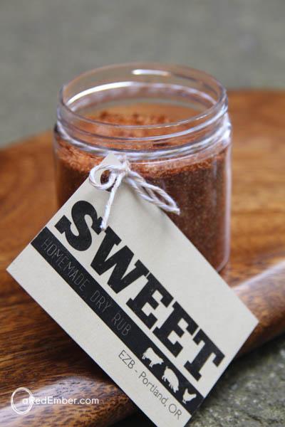 sweet dry rub